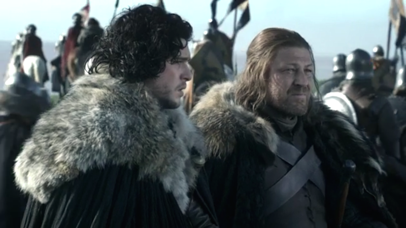Ned and Jon Game of Thrones S1E2