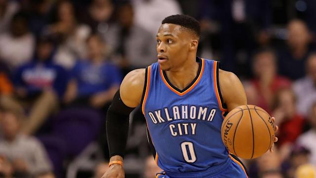 Russell Westbrook was named the 2016-17 NBA MVP.