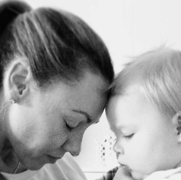 Celebrity Valentine's Day Twitpics: Michelle Heaton and baby Faith looked adorable in their V Day pic. Copyright [Twitter /Michelle Heaton]