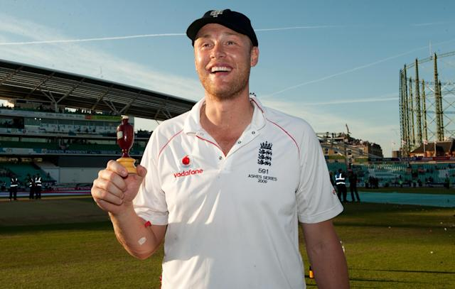 Ashes hero: England's Flintoff during the 2009  test – he's now had something to say about the world