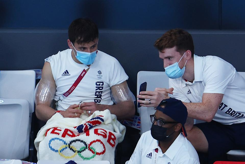 Daley took up knitting and crotcheting to get through lockdown. (Getty)