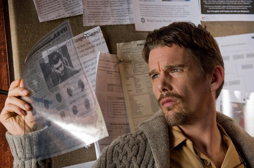 """ Sinister "" Release date: October 5 Starring: Ethan Hawke and Vincent D'Onofrio"