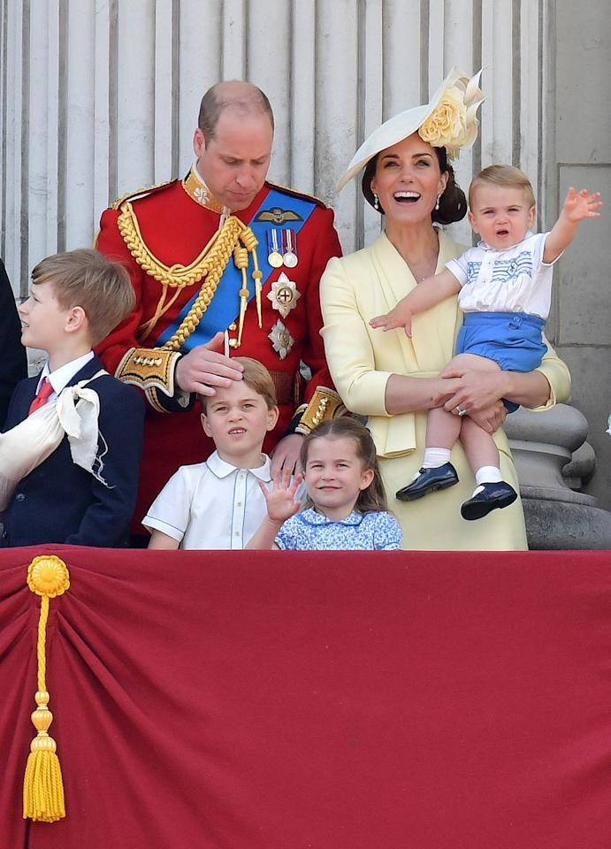 <p>Prince Louis made his Buckingham Palace balcony debut, along with his older brother Prince George and his sister Princess Charlotte.</p>
