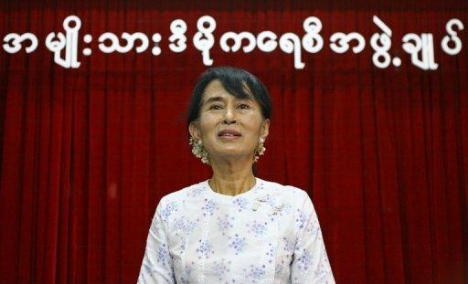 Myanmar pro-democracy leader Aung San Suu Kyi, pictured in April 2012, will visit Bangkok next week on her first trip overseas in more than two decades, according to her party
