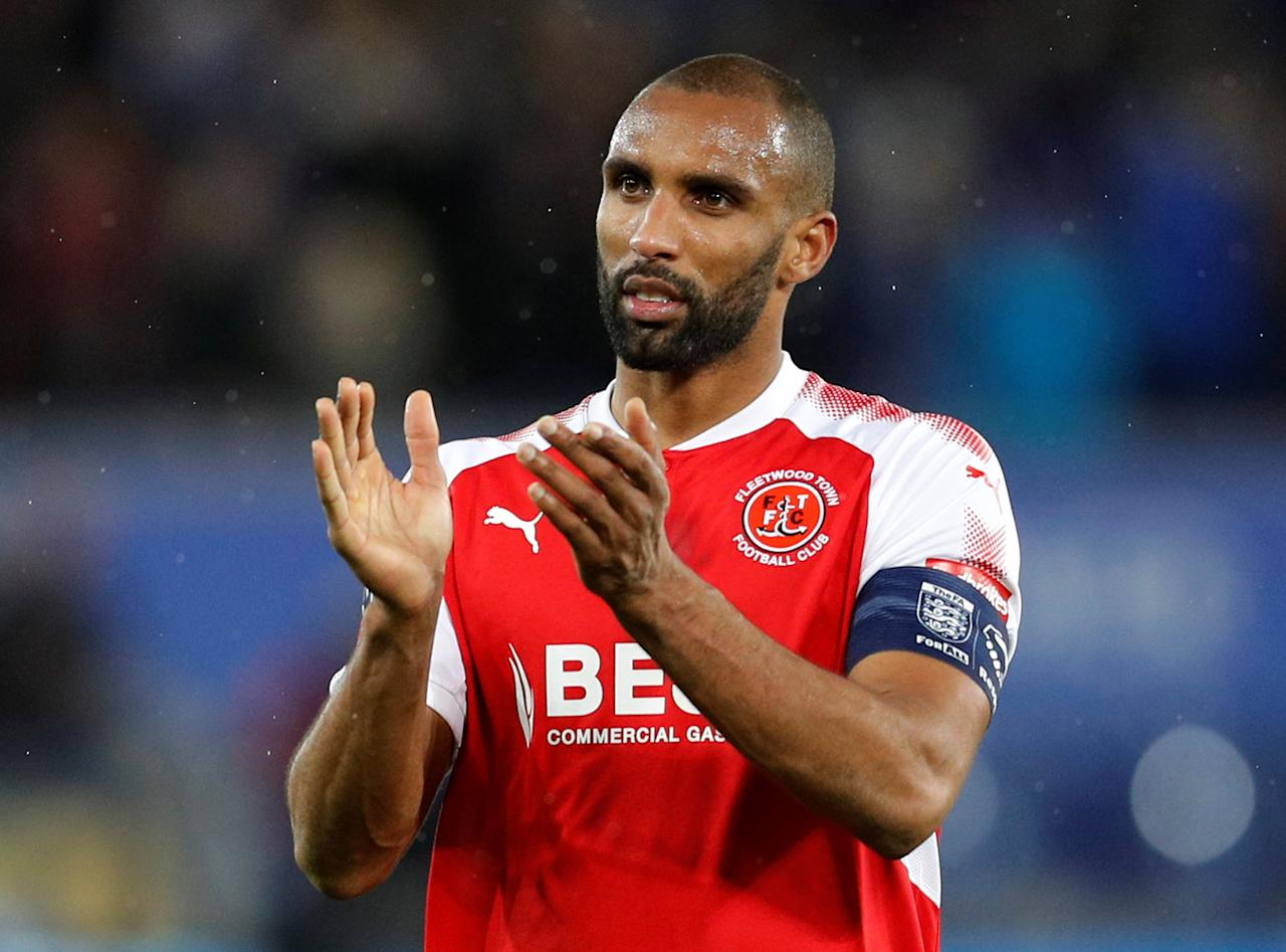 Soccer Football - FA Cup Third Round Replay - Leicester City vs Fleetwood Town - King Power Stadium, Leicester, Britain - January 16, 2018   Fleetwood Town's Nathan Pond applauds after the match     REUTERS/Darren Staples