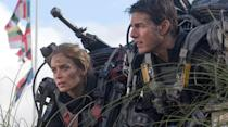 """<p>Based on the Japanese novel <em>All You Need Is Kill</em>, Doug Liman's <em><a href=""""https://www.amazon.com/Live-Die-Repeat-Edge-Tomorrow/dp/B00MUCX6AW/?tag=syn-yahoo-20&ascsubtag=%5Bartid%7C2089.g.35650609%5Bsrc%7Cyahoo-us"""" rel=""""nofollow noopener"""" target=""""_blank"""" data-ylk=""""slk:Edge of Tomorrow"""" class=""""link rapid-noclick-resp"""">Edge of Tomorrow</a></em> essentially takes the concept of <em>Groundhog Day </em>and applies it to a military fighting an overpowering alien race. Whereas Bill Murray's temporal nightmare is never quite explained, however, <em>Edge of Tomorrow</em> eventually reveals the reason why William Cage (<a href=""""https://www.popularmechanics.com/science/a32383118/tom-cruise-filming-movie-space-nasa-spacex/"""" rel=""""nofollow noopener"""" target=""""_blank"""" data-ylk=""""slk:Tom Cruise"""" class=""""link rapid-noclick-resp"""">Tom Cruise</a>) is stuck in a time loop. It's a film that is better than it has any right to be and another great example of time travel fiction done right.</p>"""