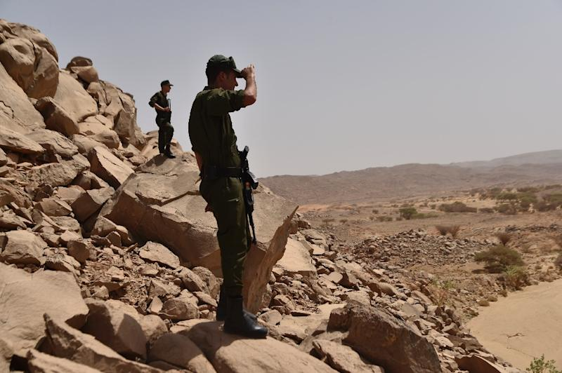 Algerian security forces patrol the Tamanrasset desert, some 2,000 kilometres south of the capital Algiers, on July 2, 2018