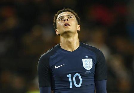 England's Dele Alli looks dejected after a missed chance