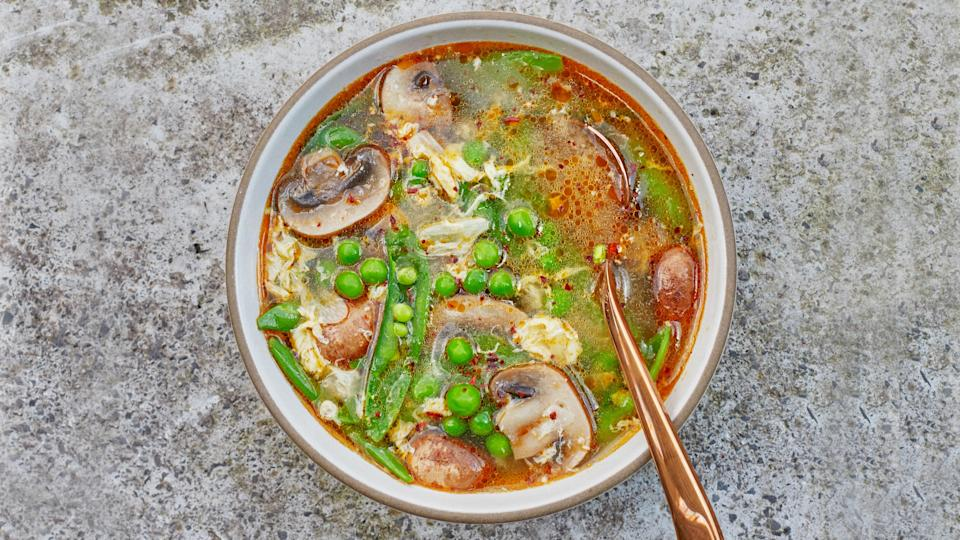 "<a href=""https://www.bonappetit.com/recipe/spring-hot-and-sour-soup?mbid=synd_yahoo_rss"" rel=""nofollow noopener"" target=""_blank"" data-ylk=""slk:See recipe."" class=""link rapid-noclick-resp"">See recipe.</a>"