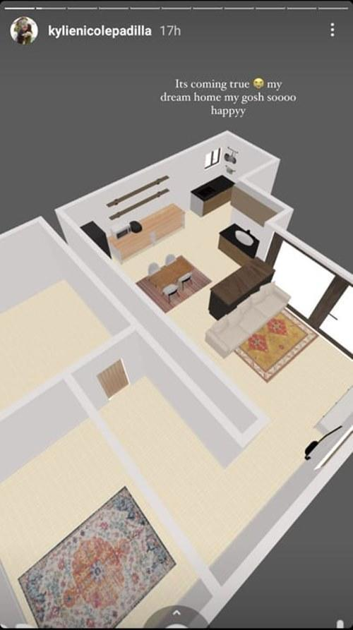 The actress shares her 3D floor plan on IG Story