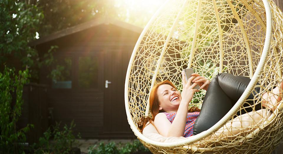 Enjoy the sunshine this summer with an egg chair, which can fit any outdoor space.  (Getty Images)