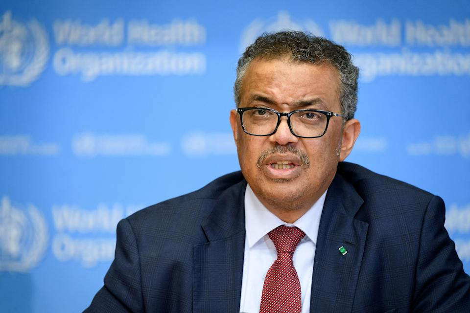 Trumps letter was sent to the World Health Organisation Director-General Tedros Adhanom Ghebreyesus (pictured). Source: AFP via Getty Images