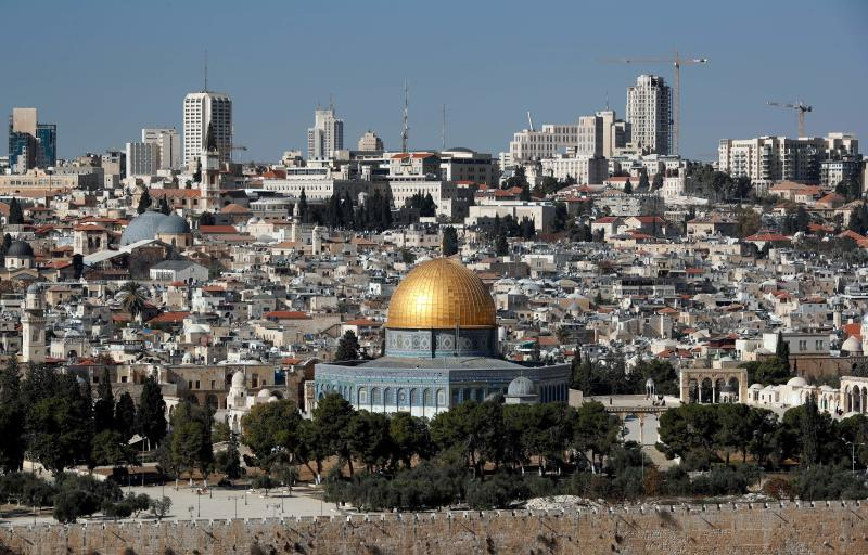 The Dome of the Rock mosque and a general view of Jerusalem on Dec. 1.
