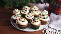 """<p>Deck the cupcakes with tubs of frosting, falalalala....</p><p>Christmas cookies get all the love, but we're here for Christmas cupcakes, too, especially when they're as cute as these. Continue the celebration with our <a href=""""/holiday-recipes/christmas/g1307/christmas-cakes/"""" data-ylk=""""slk:best Christmas cakes"""" class=""""link rapid-noclick-resp"""">best Christmas cakes</a>, <a href=""""http://www.delish.com/holiday-recipes/christmas/g2177/easy-christmas-cookies/"""" rel=""""nofollow noopener"""" target=""""_blank"""" data-ylk=""""slk:Christmas cookies"""" class=""""link rapid-noclick-resp"""">Christmas cookies</a>, and more <a href=""""/holiday-recipes/christmas/g47/best-christmas-desserts/"""" data-ylk=""""slk:easy Christmas dessert recipes"""" class=""""link rapid-noclick-resp"""">easy Christmas dessert recipes</a>.</p>"""
