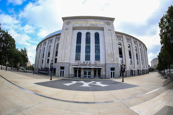A view of Yankee Stadium in the Bronx.