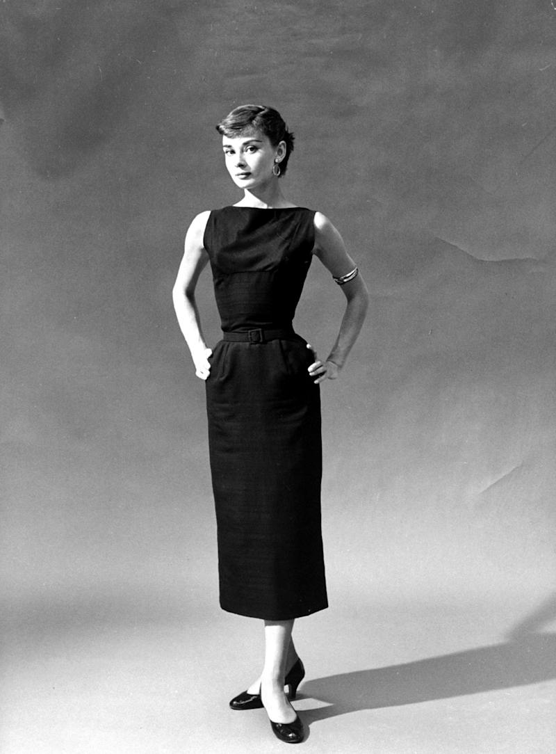 Audrey Hepburn style starts and ends with a black dress.