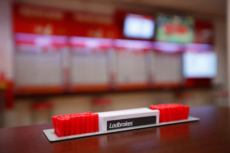 FILE PHOTO: General view inside a deserted Ladbrokes shop in Harpenden