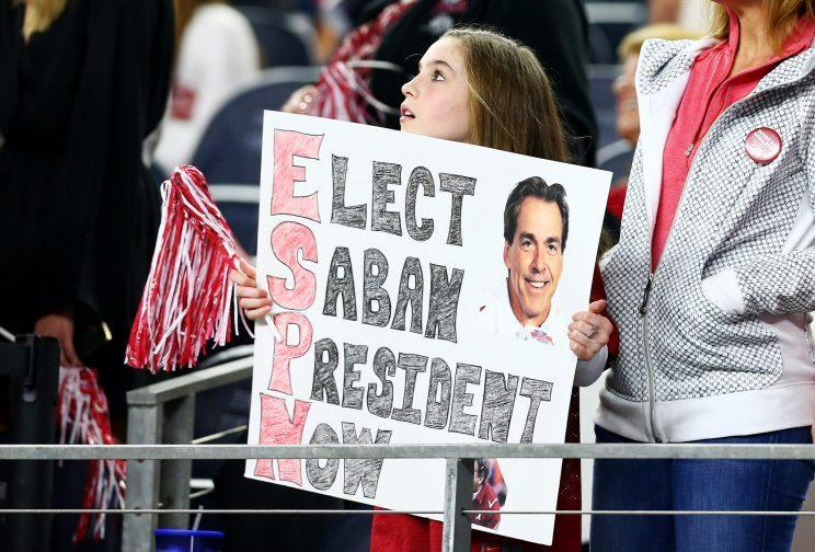 Nick Saban is 65-12 in SEC play in 10 seasons at Alabama. (Getty Images)