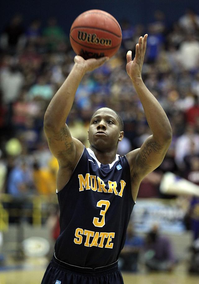 MOREHEAD, KY - JANUARY 18: Isaiah Canaan #3 of the Murray State Racers shoots the ball during the OVC game against the Morehead State Eagles at Johnson Arena on January 18, 2012 in Morehead, Kentucky. (Photo by Andy Lyons/Getty Images)