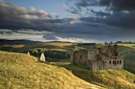 """<p>The ruins of Crichton Castle in Midlothian perch in a dramatic setting<span class=""""redactor-invisible-space"""">.</span></p>"""