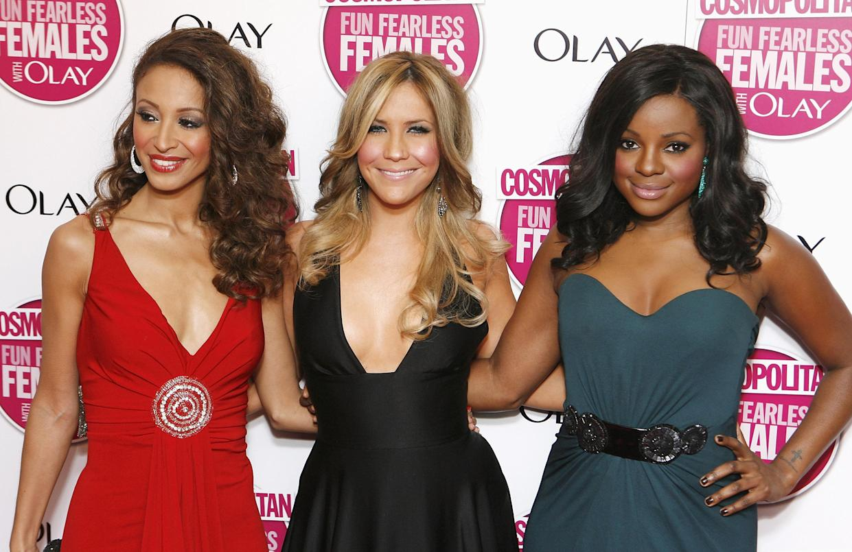(from left to right) Amelle Berrabah, Heidi Range, Keisha Buchanan of The Sugababes arrive at the Cosmopolitan Ultimate Women of the Year Awards at Banqueting House, in London.