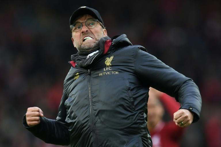 Jurgen Klopp is on the brink of leading Liverpool to a first league title in 30 years (AFP Photo/Paul ELLIS )