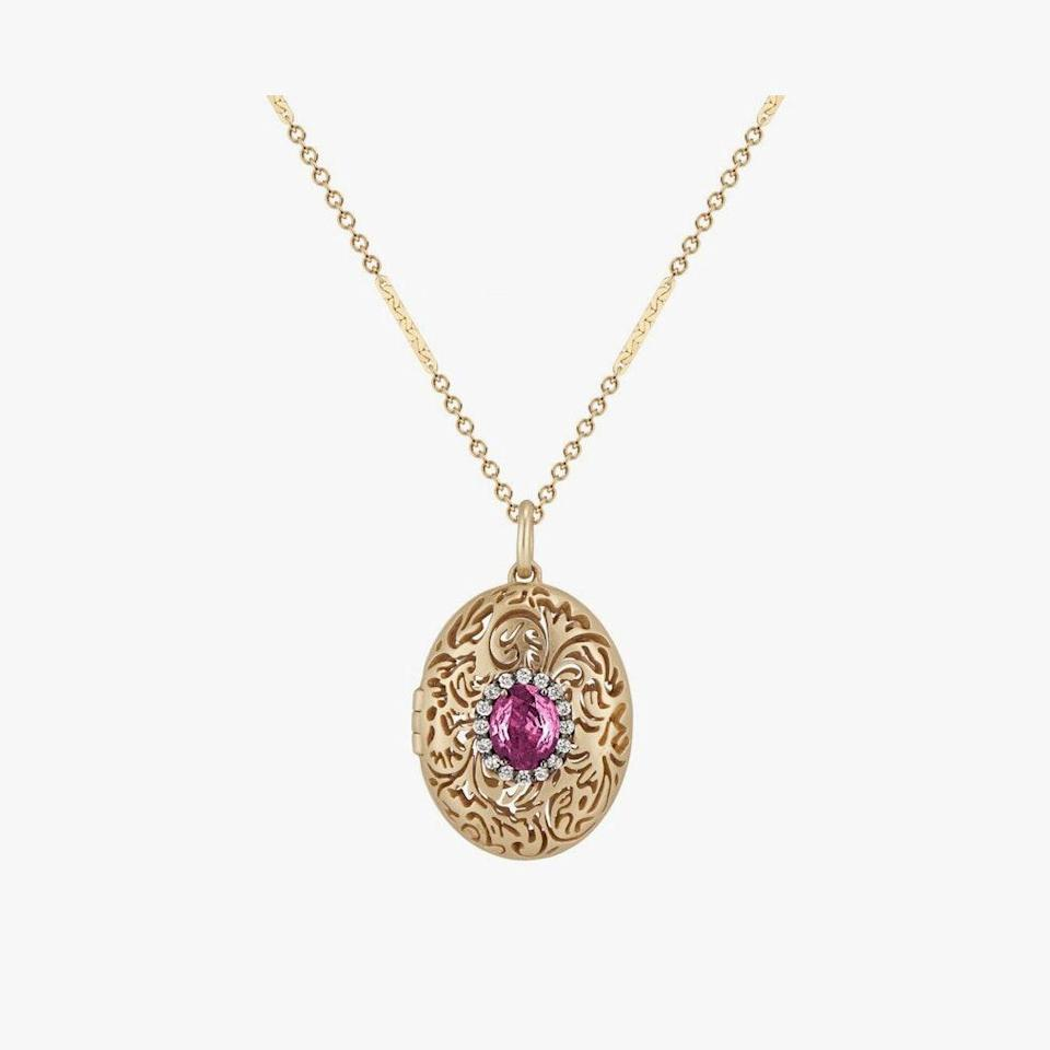 "$5100, LARKSPUR & HAWK. <a href=""https://larkspurandhawk.com/collections/necklaces/products/illustrated-arbor-eyelet-aromatic-locket-1?variant=32955908522019"" rel=""nofollow noopener"" target=""_blank"" data-ylk=""slk:Get it now!"" class=""link rapid-noclick-resp"">Get it now!</a>"