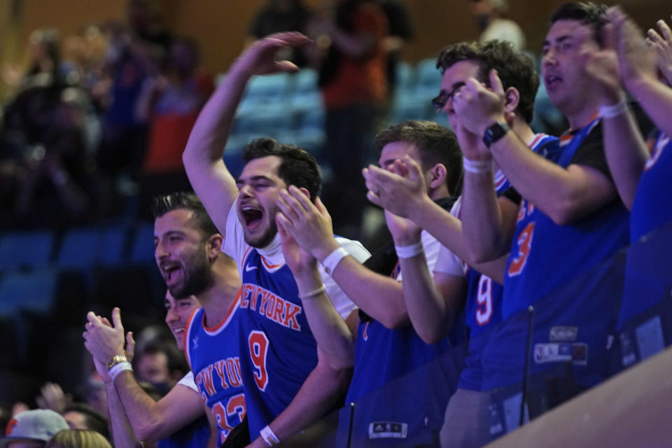 Fans packed Madison Square Garden for the Knicks' playoff opener against the Hawks on Sunday, and it was a welcome sight. (Photo by Seth Wenig - Pool/Getty Images)