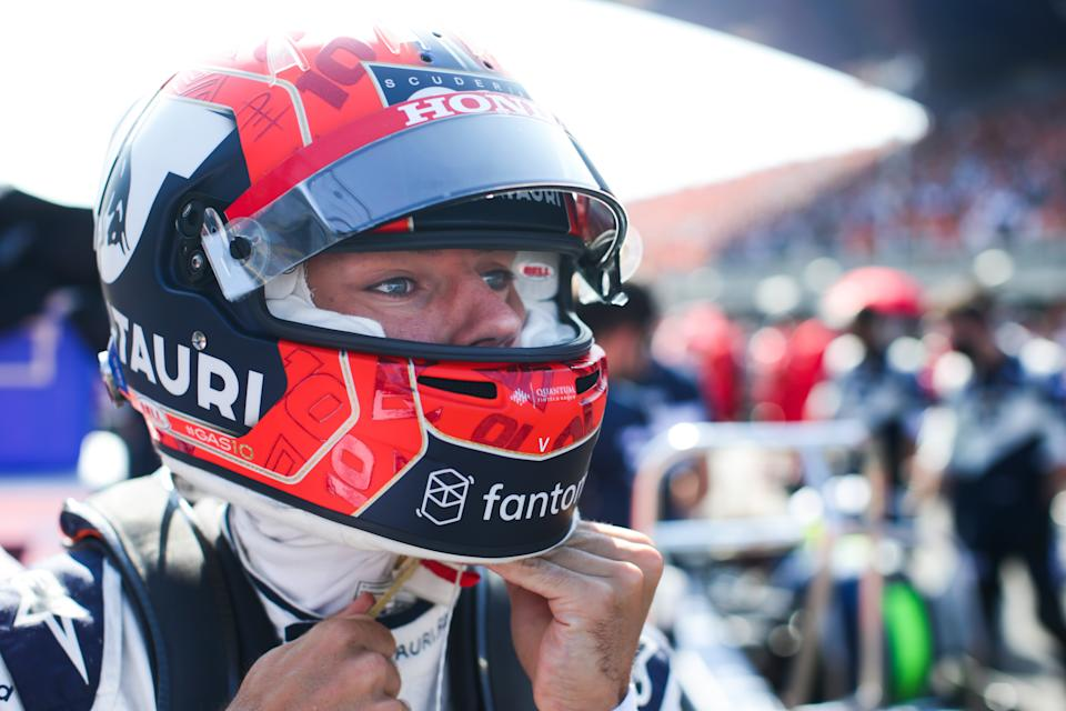 ZANDVOORT, NETHERLANDS - SEPTEMBER 05: Pierre Gasly of France and Scuderia AlphaTauri prepares to drive on the grid ahead of the F1 Grand Prix of The Netherlands at Circuit Zandvoort on September 05, 2021 in Zandvoort, Netherlands. (Photo by Peter Fox/Getty Images)