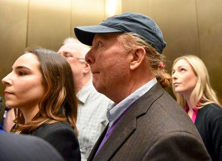 Celebrity chef Mario Batali arrives at court to face a charge of indecent assault and battery in Boston, Massachusetts, U.S. May 23, 2019.  REUTERS/Faith Ninivaggi