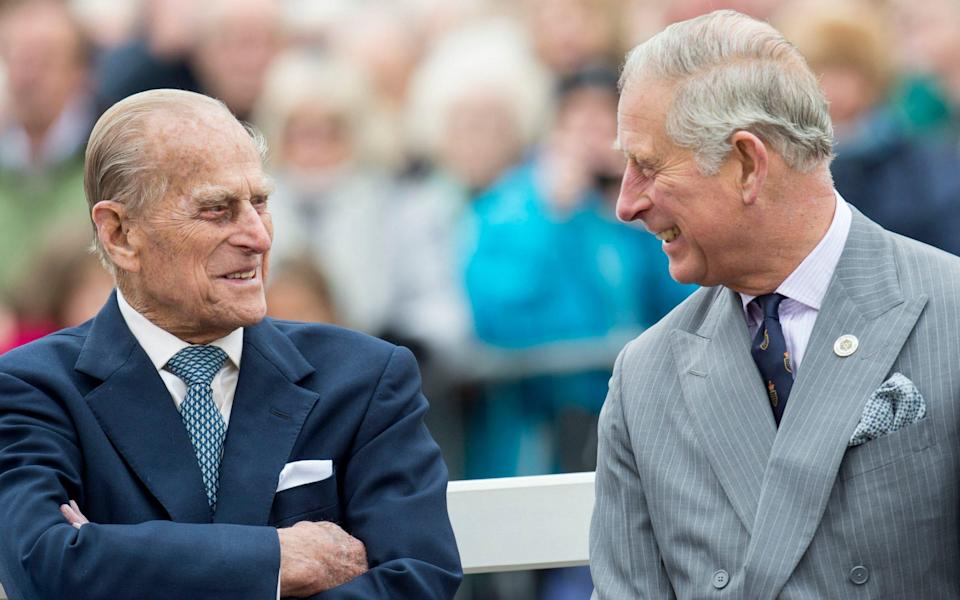 Prince Philip and Prince Charles together in 2016. Sources said last night that the Prince of Wales's statement had underlined the special bond he had enjoyed with his father. - Mark Cuthbert/UK Press via Getty Images