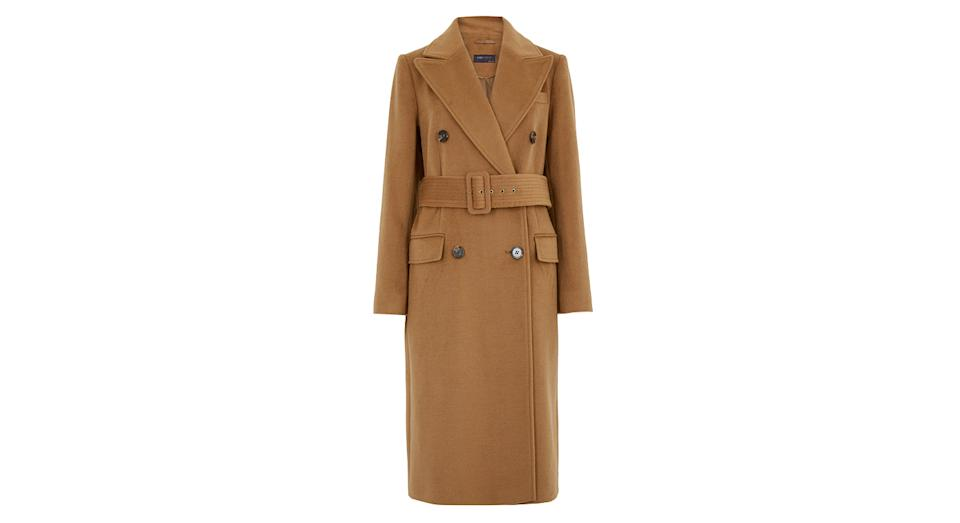 Belted Double Breasted Longline Coat