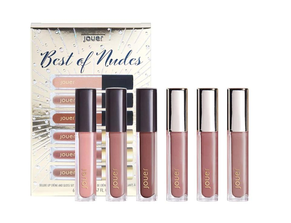 "<p>This bestselling gloss formula will be your new go-to. You'll constantly be reaching for the <a href=""https://www.sephora.com/product/jouer-cosmetics-best-nudes-mini-lip-set-P466129?icid2=products%20grid:p466129"" class=""link rapid-noclick-resp"" rel=""nofollow noopener"" target=""_blank"" data-ylk=""slk:Jouer Cosmetics  Best of Nudes Mini Lip Set"">Jouer Cosmetics<br> Best of Nudes Mini Lip Set</a> ($22).</p>"