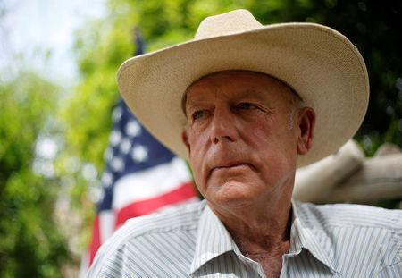 FILE PHOTO: Rancher Cliven Bundy poses at his home in Bunkerville