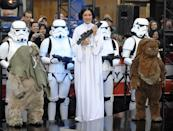 <p>Meredith Vieira dressed up as the feminist icon of the <em>Star Wars </em>franchise known for her space buns and fearless leadership: Princess Leia. </p>
