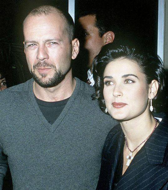 PHOTO: Actors Bruce Willis and Demi Moore attend a movie premiere at Mann Village Theatre in Westwood, Calif., Dec. 9, 1992. (Kypros/Getty Images, FILE)