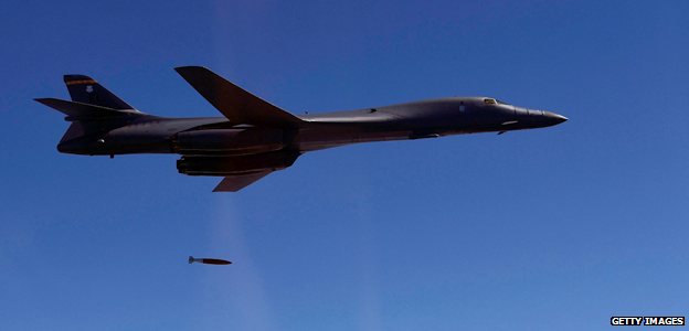 US strategic bombers have carried out training flights over the Korean peninsula.