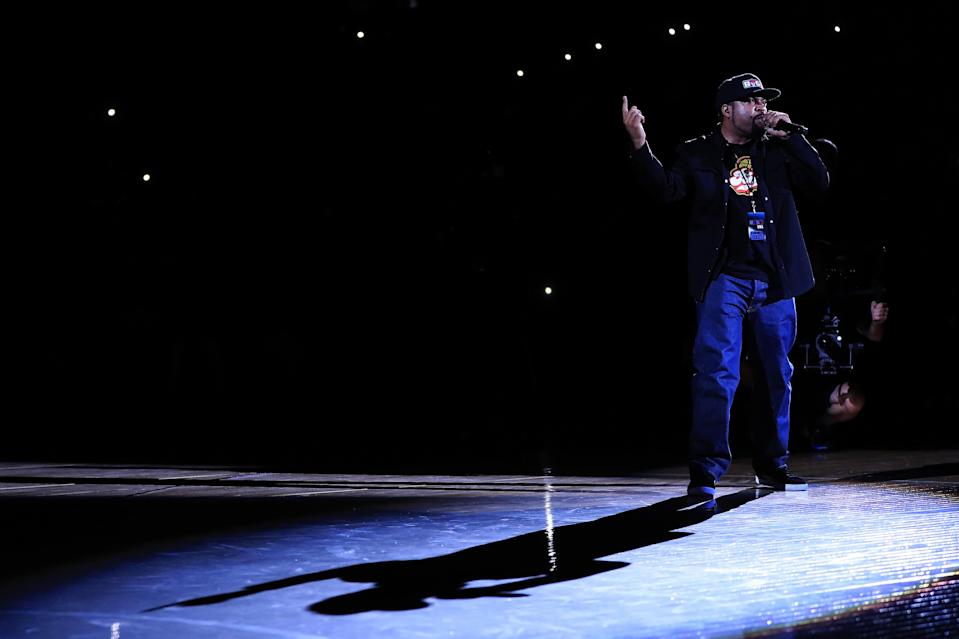 Ice Cube and Colin Kaepernick both have lent their voice to the fight against police brutality and racial inequality. (Getty Images)