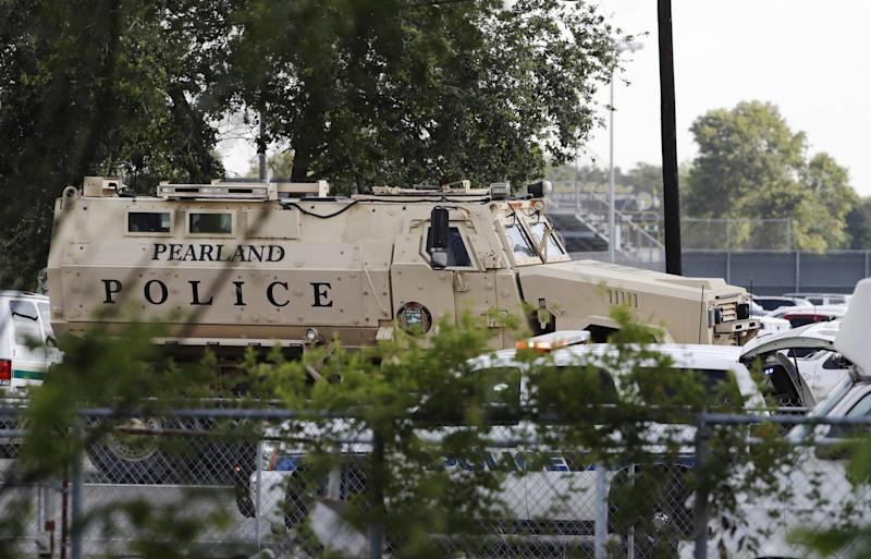 Bombs were planted and eight students died at the shooting in Texas (AP)