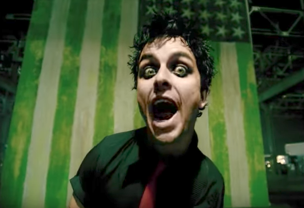 Billy Joe Armstrong in the Green Day video for 'American Idiot': YouTube/Green Day