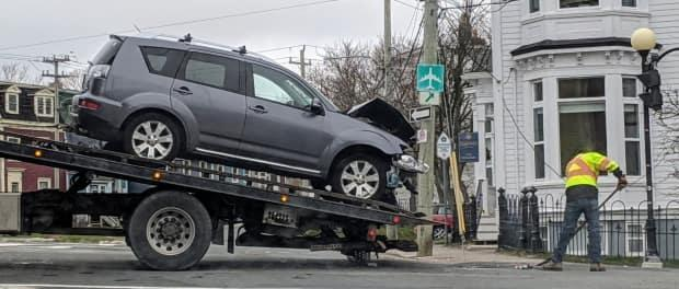 The intersection at Rawlins Cross is regularly the site of collisions, and the City of St. John's council has voted to move ahead with commissioning detailed analysis for their riskiest intersections to come up with solutions. (Lisa Sells/Twitter - image credit)