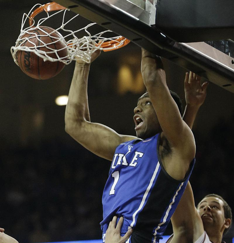 Parker leads No. 11 Duke to 89-68 win over BC