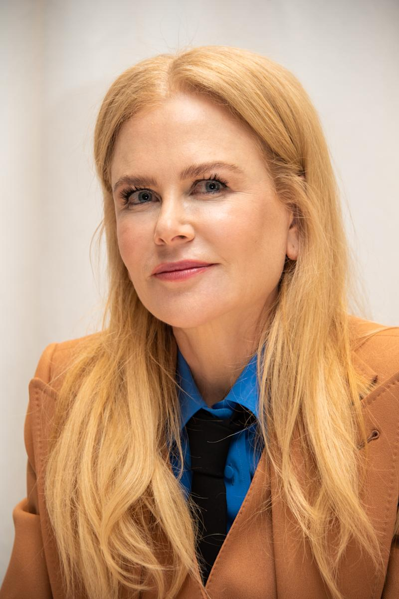 "Nicole Kidman at ""The Undoing"" Press Conference at the Four Seasons Hotel on March 09, 2020 in Beverly Hills, California."