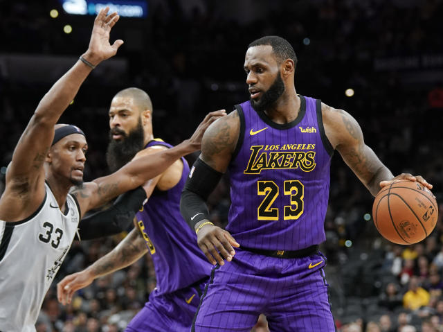 LeBron James has performed well with the Lakers through 25 games. (AP Photo)