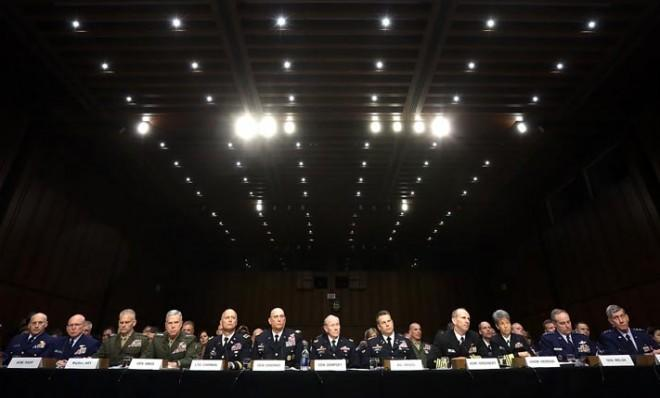 U.S. military leaders testify on June 4 before the Senate Armed Services Committee regarding sexual assaults in the military.