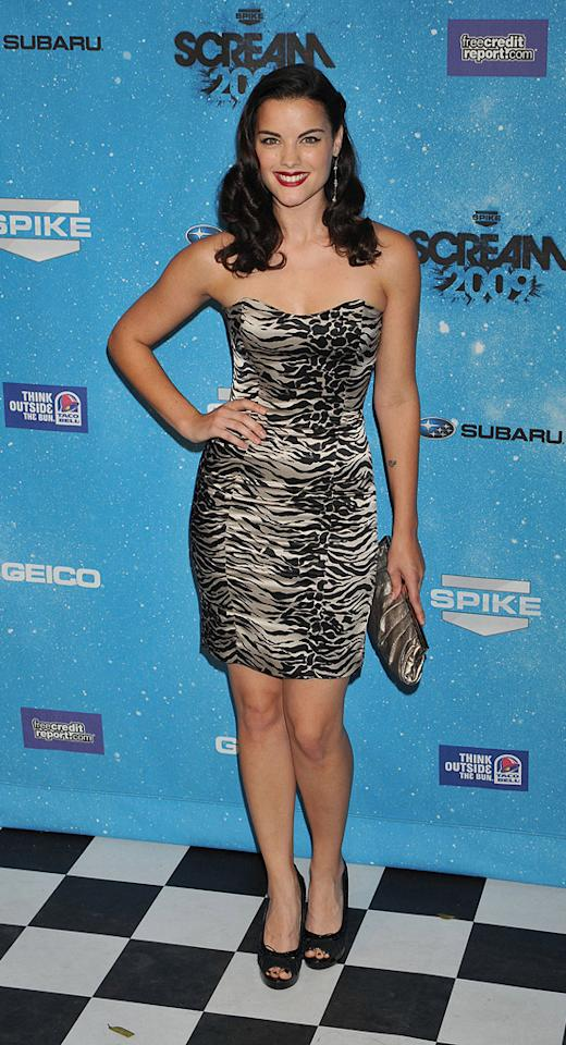 """<a href=""""http://movies.yahoo.com/movie/contributor/1809669724"""">Jaimie Alexander</a> at the 2009 Spike TV Scream Awards in Los Angeles - 10/17/2009"""