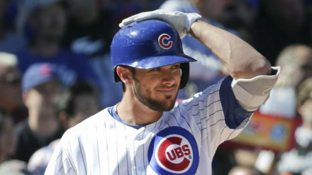 <p>Cubs' Kris Bryant leaves game with apparent finger injury</p>