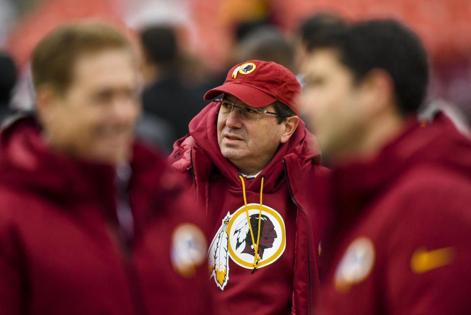 LANDOVER, MD - DECEMBER 9: Washington Redskins owner Daniel Snyder on the sideline ahead of a game against the New York Giants at FedEx Field.  (Photo by Jonathan Newton / The Washington Post via Getty Images)