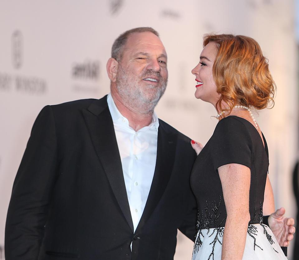 Lindsay previously defended Harvey Weinstein. Copyright: [Getty]