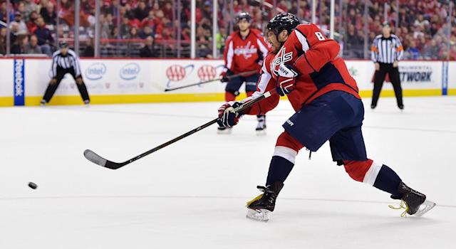 "<a class=""link rapid-noclick-resp"" href=""/nhl/players/3637/"" data-ylk=""slk:Alex Ovechkin"">Alex Ovechkin</a> and the <a class=""link rapid-noclick-resp"" href=""/nhl/teams/was"" data-ylk=""slk:Caps"">Caps</a> have been riding some extremely good shooting luck. (Drew Hallowell/Getty Images)"